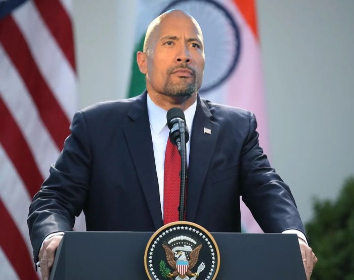 """Dwayne """"The Rock"""" Johnson just announced his candidacy for President in 2024"""